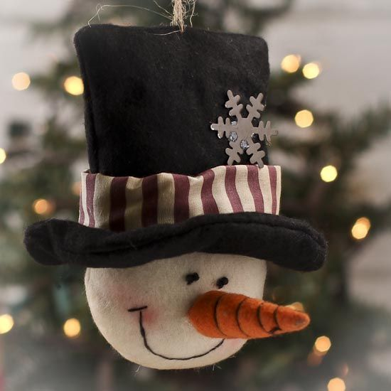 Mini Top Hat Ornament - If you're looking for unique #Christmas ornaments, look no further than your own drawer of fabric scraps. Description from pinterest.com. I searched for this on bing.com/images