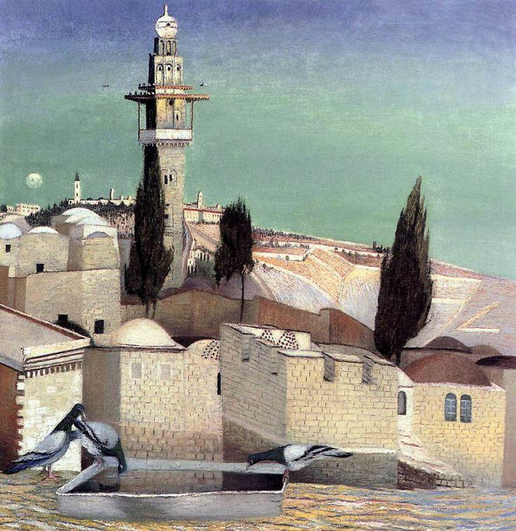 Csontváry Kosztka Tivadar - The Mount of Olives in Jerusalem 1905