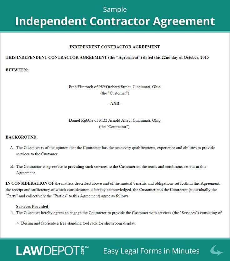 Sample Independent Contractor Agreement House Ideas Pinterest - contractor confidentiality agreement