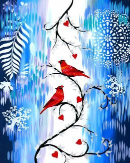 Romance in the Snow by cathy-jacobs at zippi.co.uk
