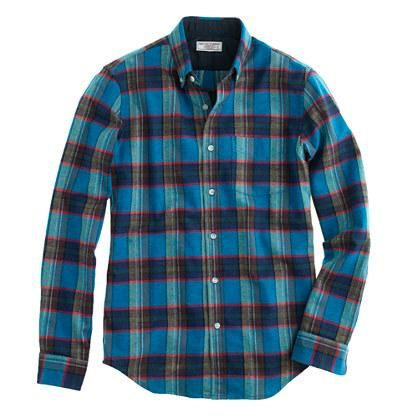 Honey | Wallace & Barnes woodshop flannel shirt in Chatham bay plaid 40% off with coupon SALEFUN @jcrew