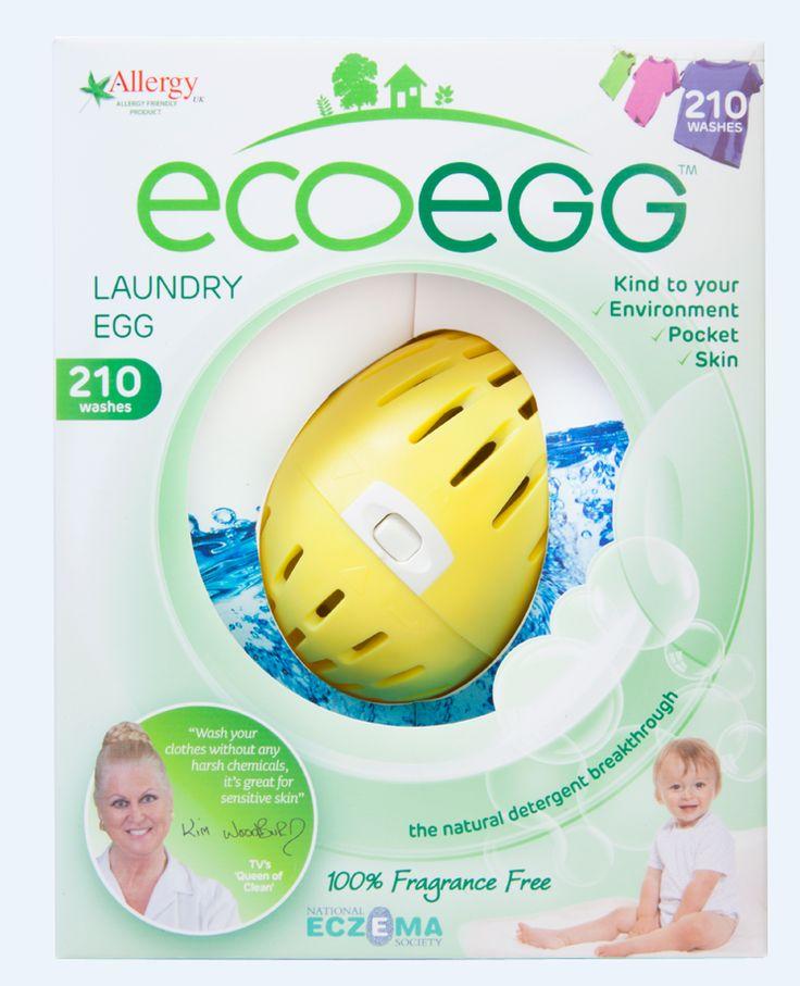 Enklere, bedre og billigere Miljøvennlig, naturlig og svært skånsom mot huden Erstatter både vaskepulver og tøymykner   EcoEgg er en fantastisk innovasjon fra Storbritannia. Den har vunnet flere priser, bl.a. Gull for beste «Baby Skincare Product». Produktet støttes av det britiske nasjonale Eksemforbundet og av det Britiske  Allergiforbundet. EcoEgg er både økonomisk, miljøvennlig og hypoallergenisk, noe som betyr at den er ekstremt skånsom og passer for de med allergi eller eksem.  Du…