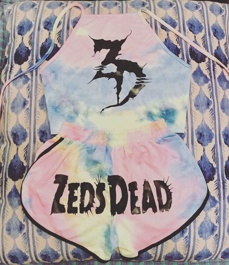Zeds Dead Two Piece Set  Rave clothing Festival clothing  Edm Electric forest Tie dye  Insomniac Edc  Electric daisy carnival Okeechobee Music festival Outfit  Holographic Basshead Headbanger