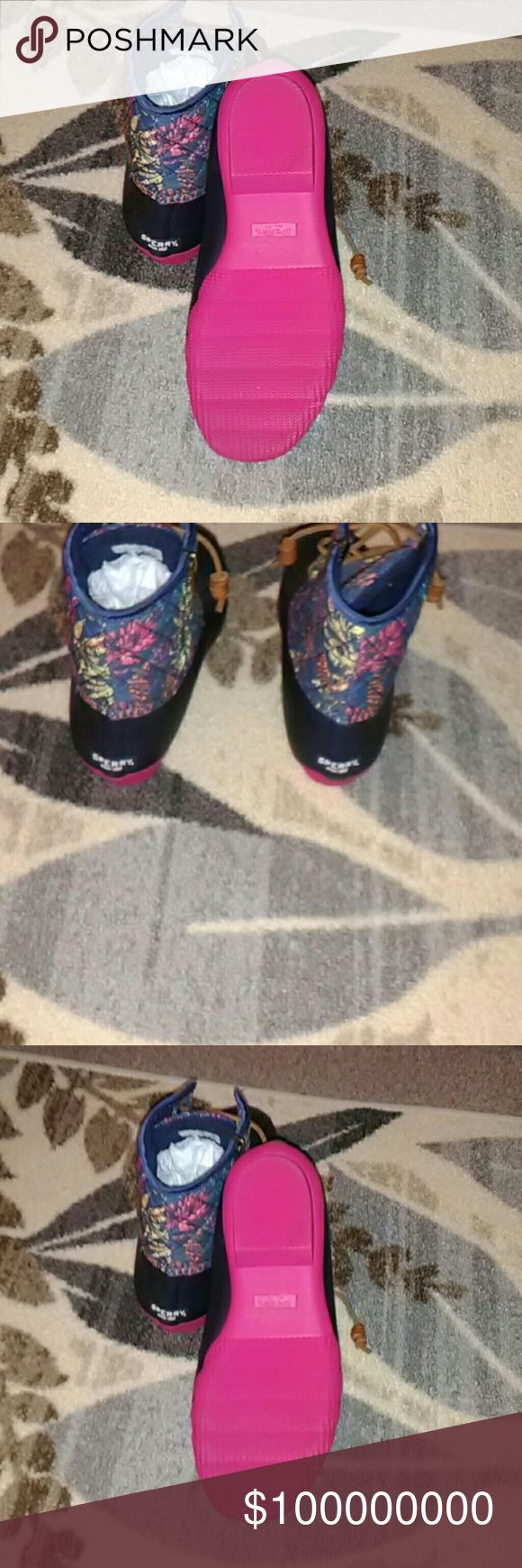 Sperry rain boots Cute boots Not For Sale Sperry Shoes Lace Up Boots