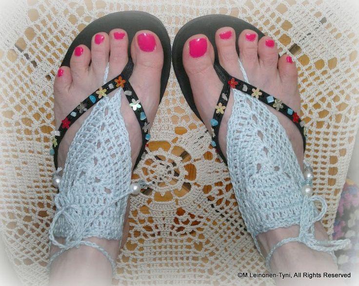 Crochet Barefoot sandals Minna Leinonen-Tyni - Google+