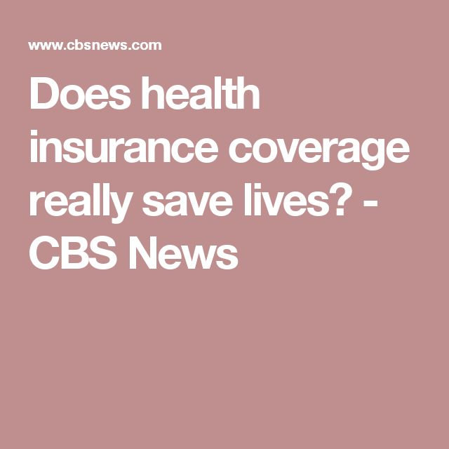 """Losing insurance is lethal and gaining insurance reduces the death rate. That is completely consistent numerically across the different studies,"" Dr. Steffie Woolhandler, a professor at the CUNY School of Urban Public Health at Hunter College in New York and co-author of the literature review, told CBS News."