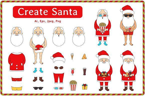 Create Santa by Alla_Ri_Shop on @creativemarket