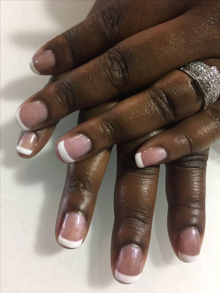 French gel mani on top of princesses rule by opi 💅🏽 #gelmani #gelnails #gelcolor #opi #gelpolish @polished_nail_bar @opi_products #opi #polishednailbar