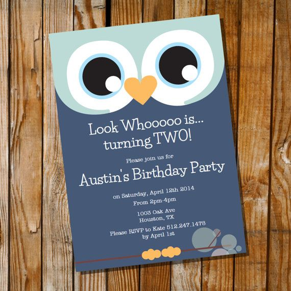 How cute is this Owl Invitation for a Boy Birthday Party  by SunshineParties, $5.00...I am in LOVE! x