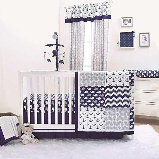 piece for babysupermall peanut on best boy baby the sets set boys shell anchors whales by crib bedding and bed images nursery navy nautical