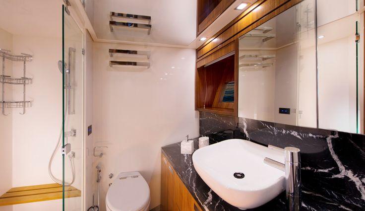 Riviera 77 Enclosed Flybridge Master Stateroom Ensuite
