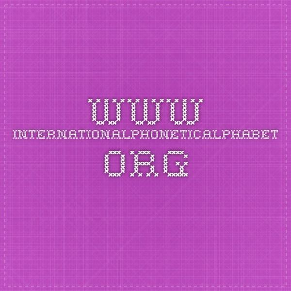8 best Phonetics images on Pinterest Phonetic alphabet, Speech - phonetic alphabet chart template