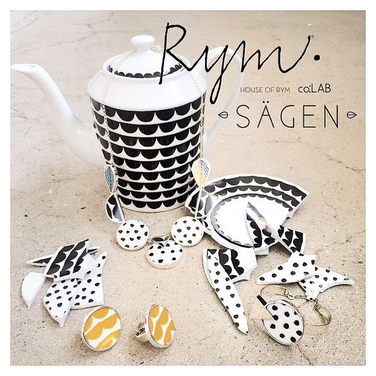 Sägen CO:LAB House Of Rym // Miss Dotty Grande necklace / Bracelet // Tu es la vague Ring