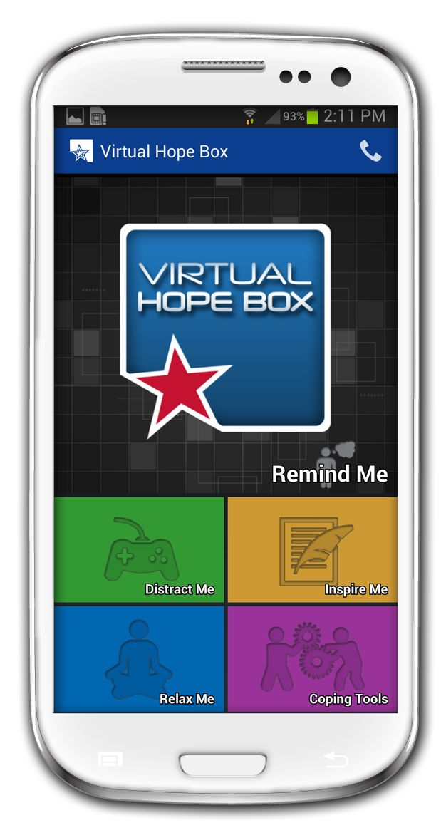 Virtual Hope Box - meditation, breathing, coping tools and more