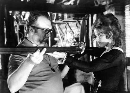 Once Upon a Time in the West. Sergio Leone and Claudia Cardinale
