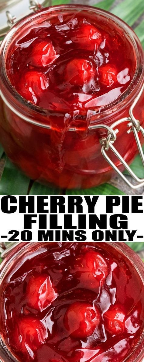 Learn how to make quick and easy CHERRY PIE FILLING recipe from scratch. It can be used in other cherry pie desserts likes pies, crumbles, cakes and more! From cakewhiz.com #cherries #cherry #pie #dessert #sweet #recipes
