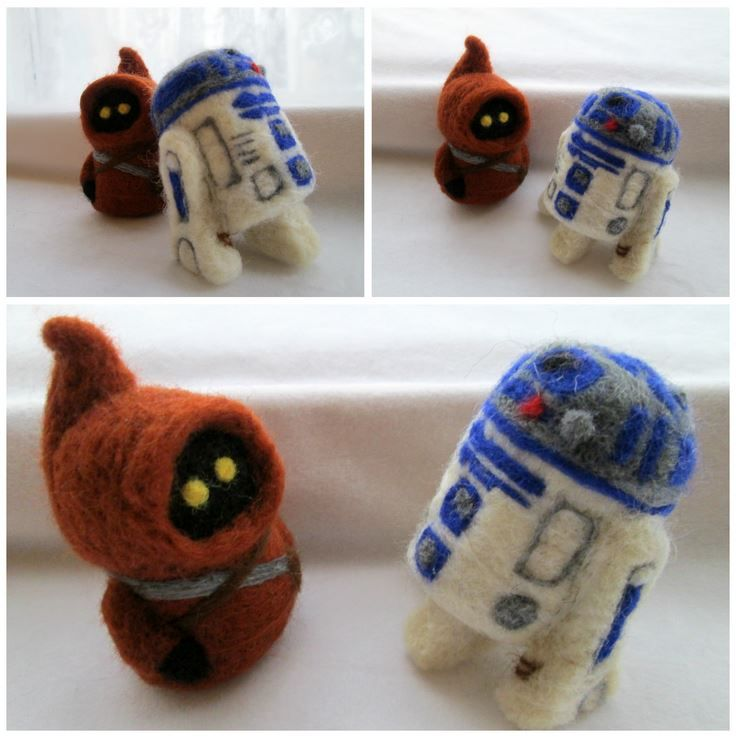 My needle felted felted  Star Wars R2 and Jawa