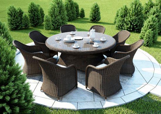 Мебель из ротанга для дачи и сада - разнообразие вариантов и фото