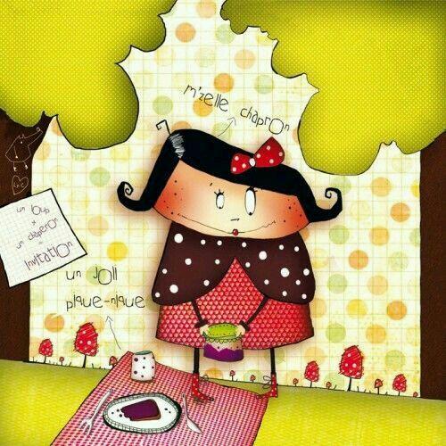 "Morgane Devillers-Carte Postale carree(""M'zelle Chapron)   Ilustraciones, Ilustraciones ..."