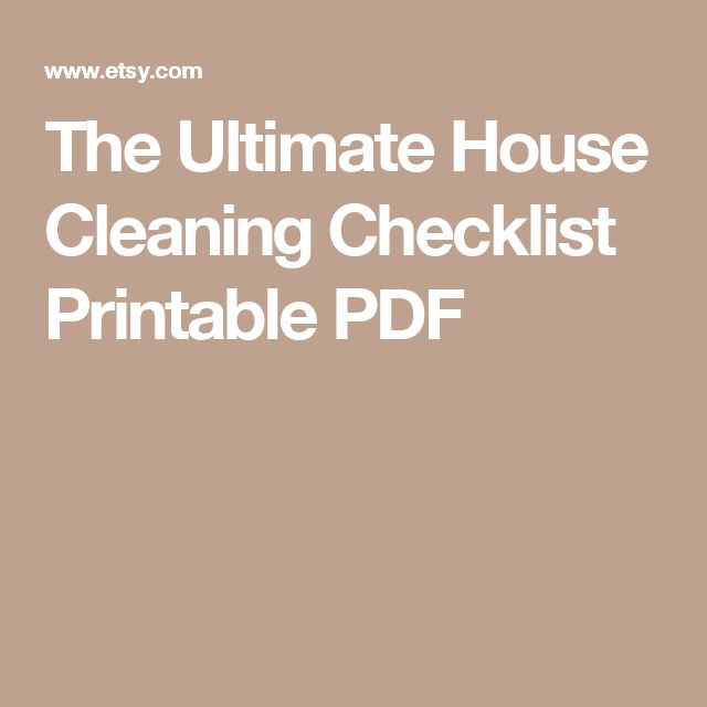 house cleaning techniques