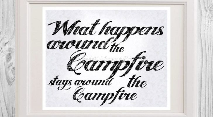 Funny camping sign with double meaning