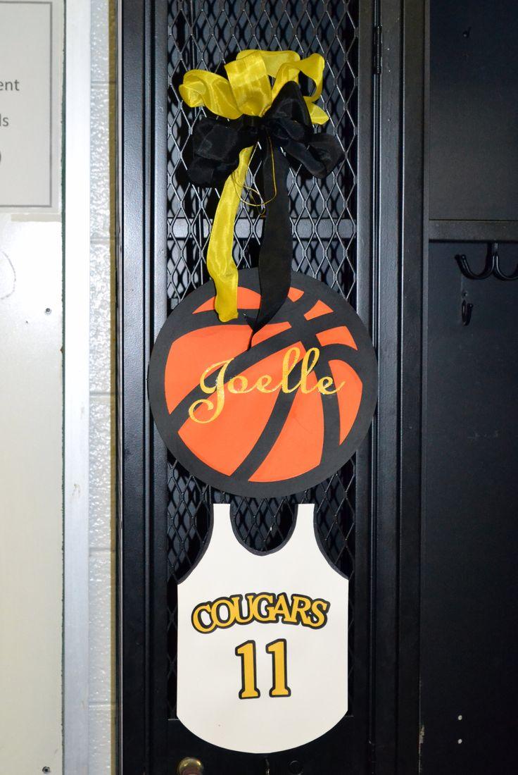 Basketball Senior Night Locker Decorations cakepins.com
