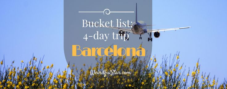 Barcelona bucket list: 4 day trip http://www.weirdfulstar.com/spain/barcelona-bucket-list-4-day-trip #barcelona #travel #tourism #blogger #packing