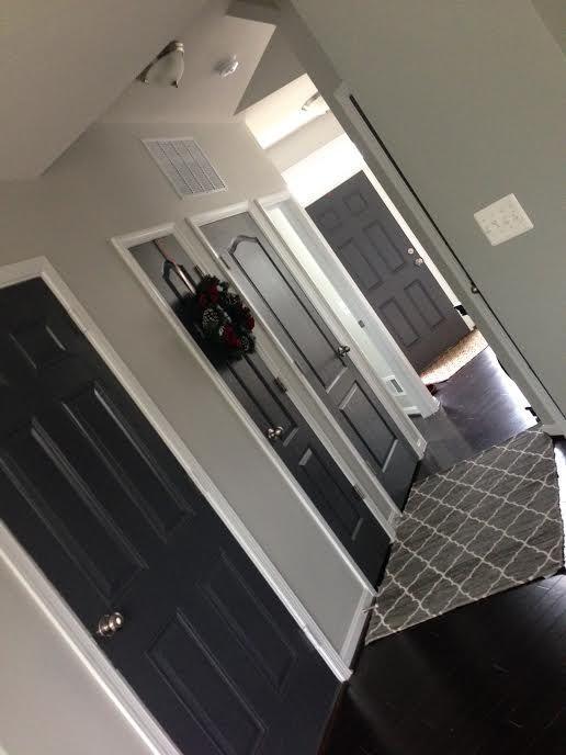 SW Peppercorn Doors in Semi Gloss SW Repose Grey Walls                                                                                                                                                                                 More