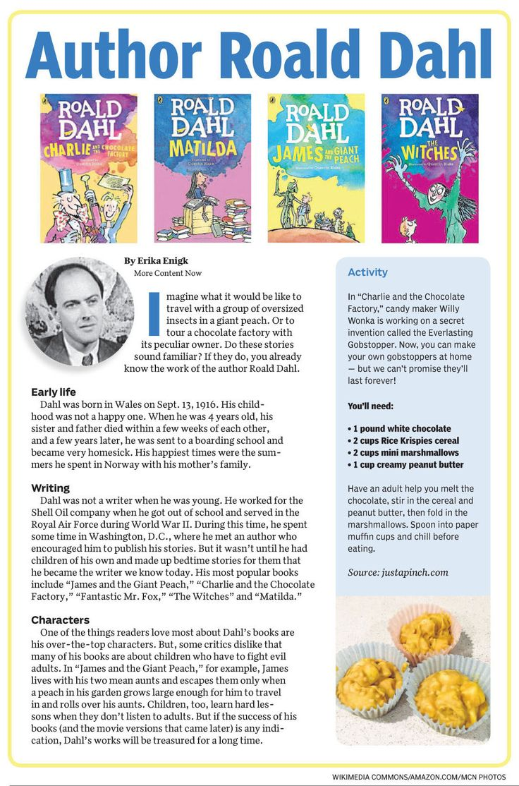 Here are a few facts about Roald Dahl and a #recipe for gobstoppers. https://www.morecontentnow.com/pages/nie/