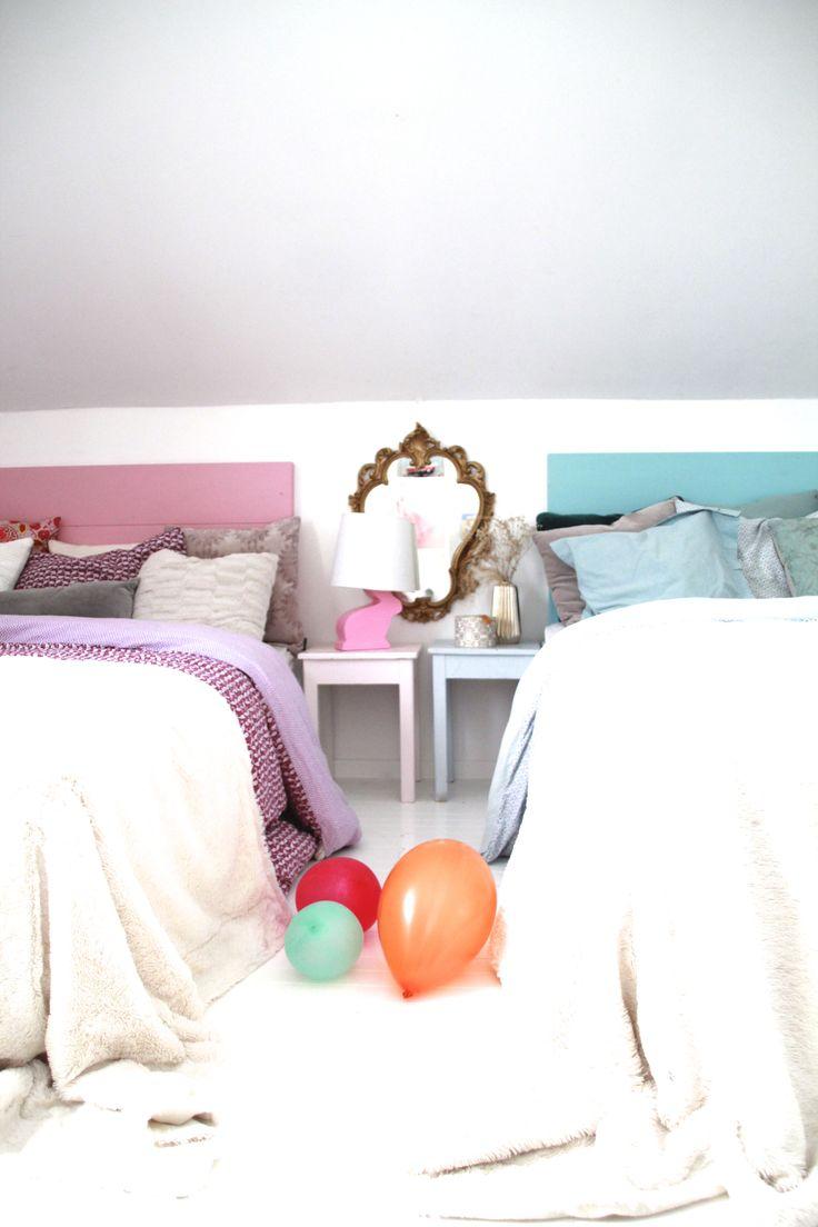 Pink and blue children's room