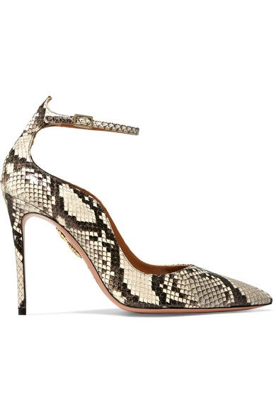 Heel measures approximately 85mm/ 3.5 inches Elaphe Buckle-fastening ankle strap Elaphe: China Made in Italy