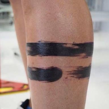 brush stroke arm band tattoo - Google Search