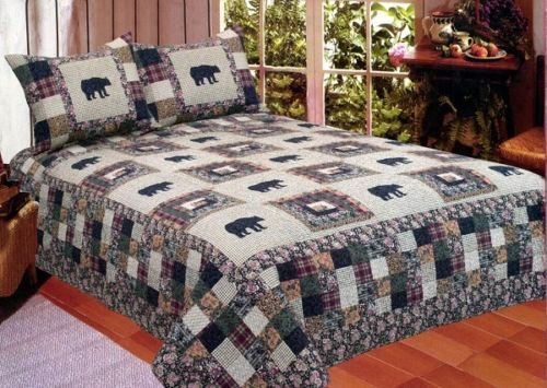 check out a wide selection of black bear medley quilts at https