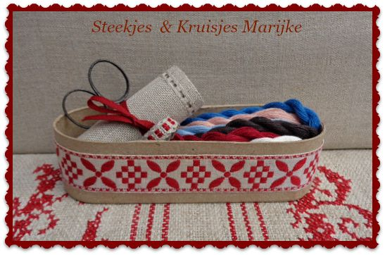 Everything ready for a new project! Steekjes & Kruisjes Marijke