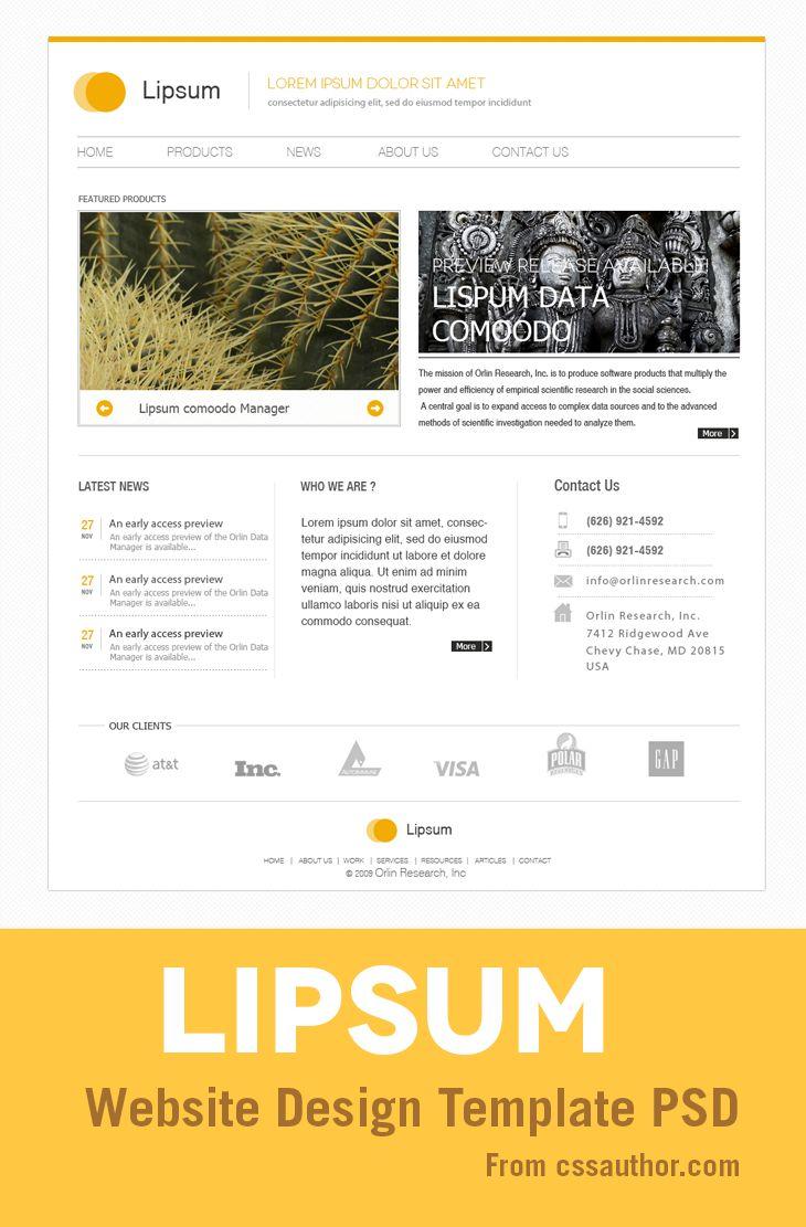 39 besten Free Web Design Template PSD Bilder auf Pinterest ...