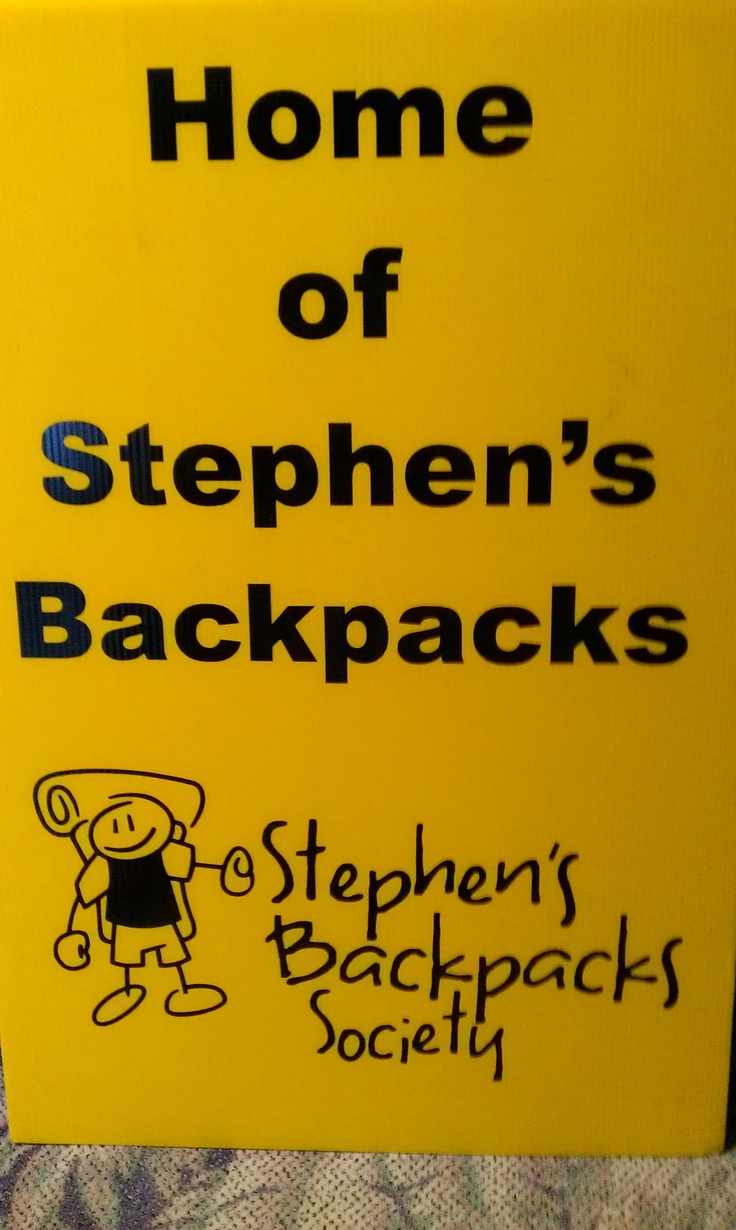 We went out to Volunteer stuffing backpacks December 8th, 2012