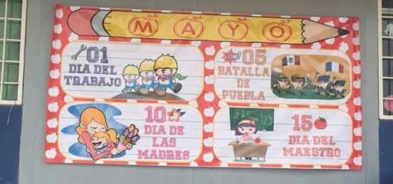 Periodico mural mayo peri dico mural pinterest murales for Deportes para el periodico mural