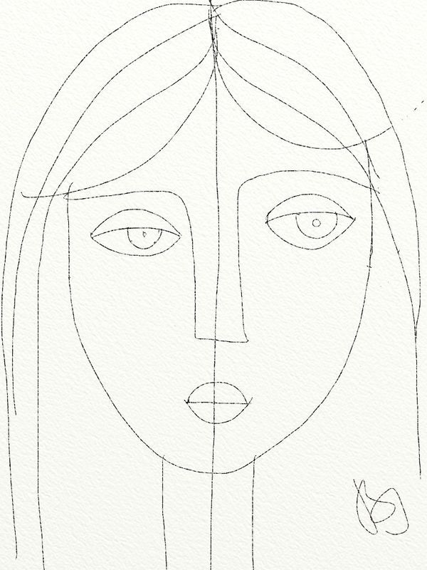 Girl, pencil drawing by BI