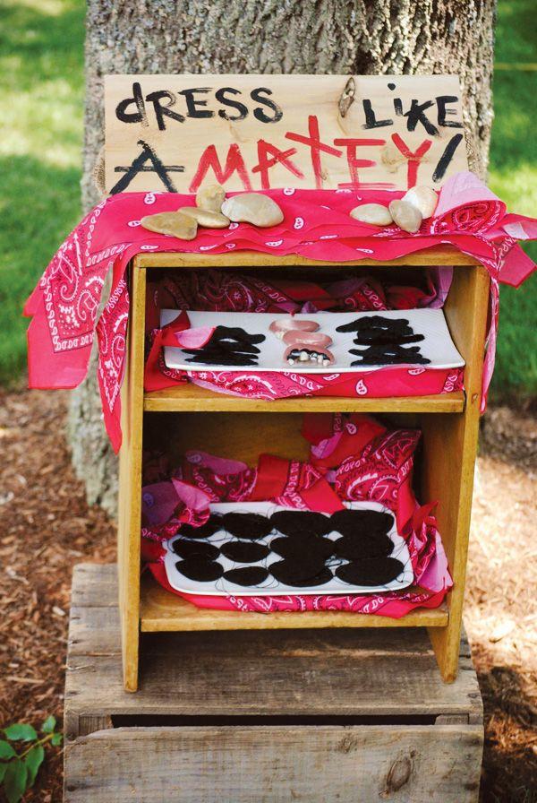 """Shipwreck Inspired Backyard Pirate Party I love the """"dress like a matey"""", peg leg corn dogs"""