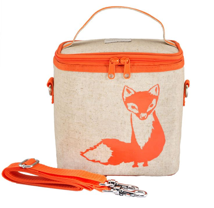 Orange Fox Small Cooler Bag- SoYoung - eco-friendly bags and accessories for the modern family - designed in Canada