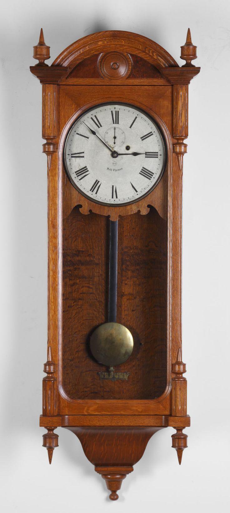 382 best clock wall clock images on pinterest wall clocks seth thomas 6 wall regulator cottone auctions amipublicfo Choice Image