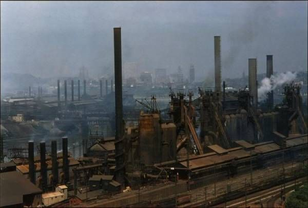 Jones & Laughlin Steel, Pittsburgh, PA, 1951, located where American Eagle now stands