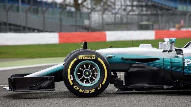 The new Mercedes-Benz F1 W08 Hybrid at Mercedes-Benz F1 W08 Hybrid Launch, Silverstone, England, 23 February 2017. © Sutton Images