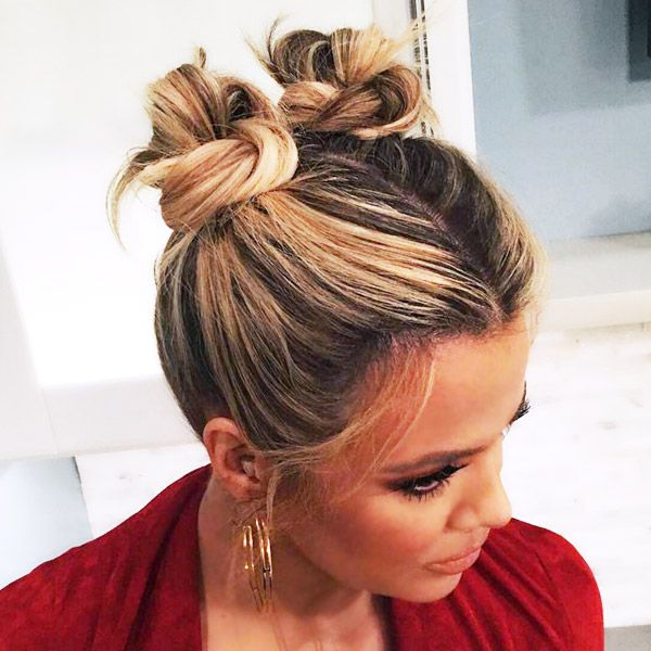 Buns Hairstyles best 25 curly bun hairstyles ideas only on pinterest curly hair 9 Times Khloe Kardashian Was Our Hair Muse