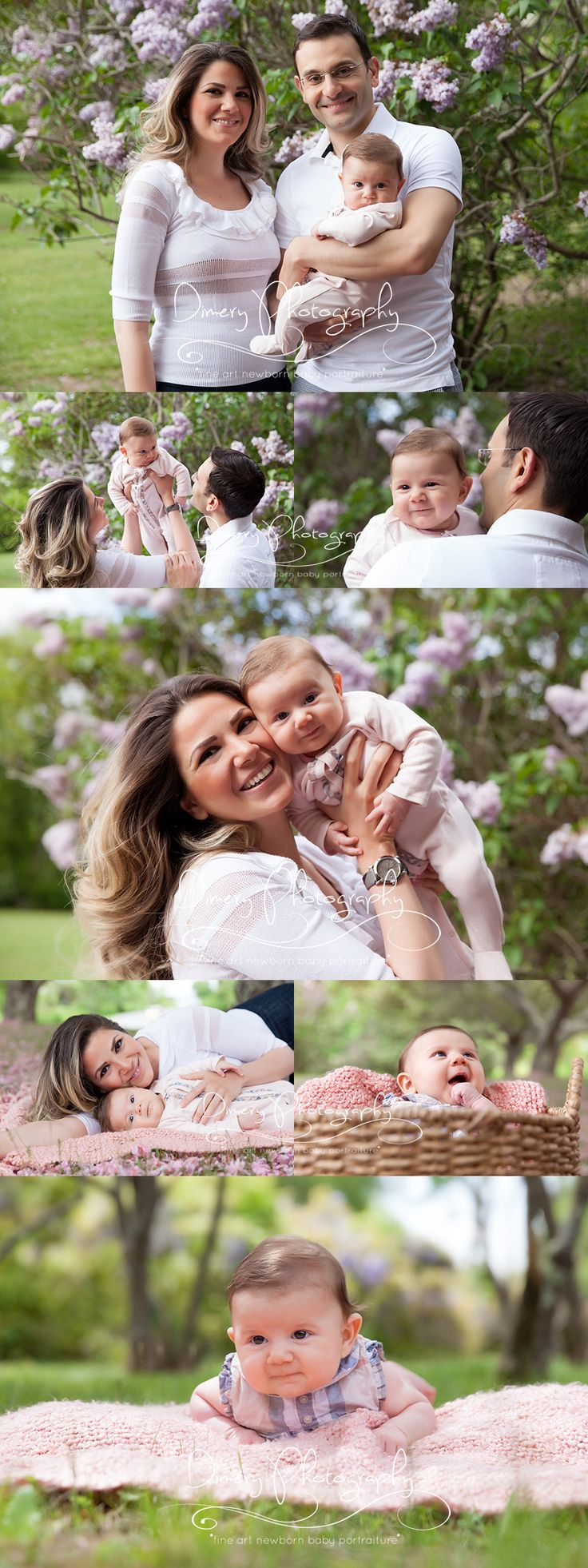 outdoor family portraits, family pictures, infant with mom and dad, outdoor baby photography © Dimery Photography 2014