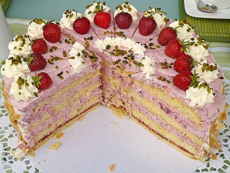 Erdbeer sahne torte hochzeit