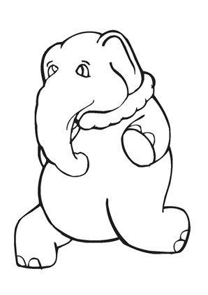 ausmalbild elefant mit halskette zum ausmalen. #
