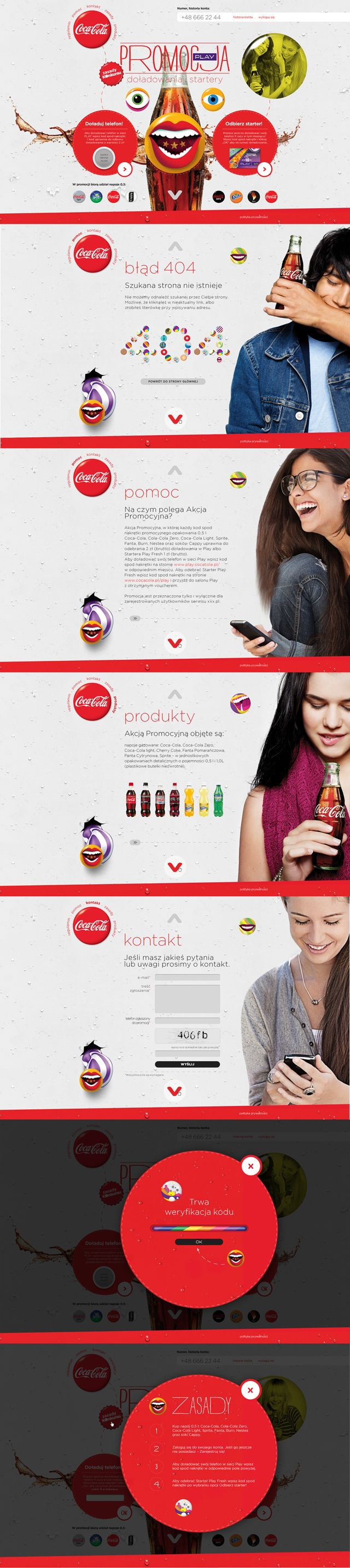 Coca-cola top promo with play - webdesign - Wojtek Zawadzki | #webdesign #it #web #design #layout #userinterface #website #webdesign < repinned by www.BlickeDeeler.de | Take a look at www.WebsiteDesign-Hamburg.de