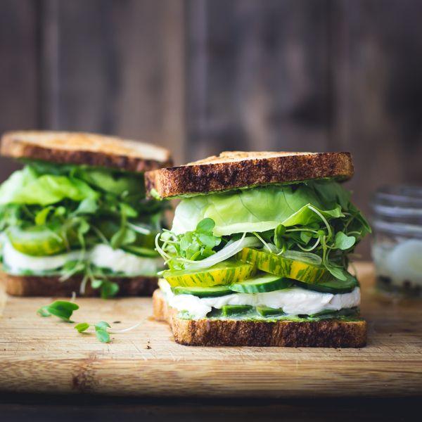 Green goddess sandwiches
