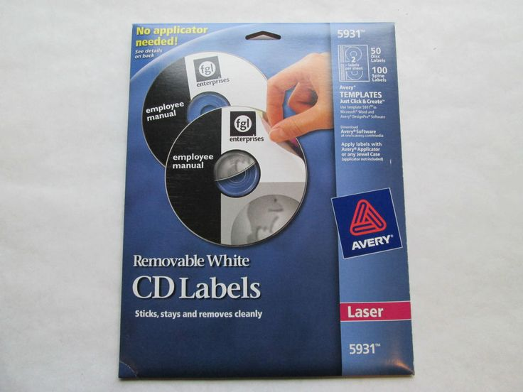 avery white cd labels 5692 40 disc 80 spine laser printer free